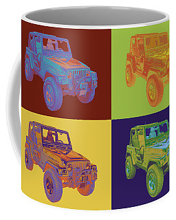 Jeep Wrangler Rubicon Pop Art Coffee Mug