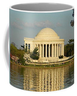 Coffee Mug featuring the photograph Jefferson Memorial At Sunset by Emmy Marie Vickers