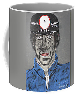Coffee Mug featuring the painting Jeffrey The Coal Miner by Jeffrey Koss