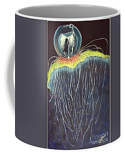 Coffee Mug featuring the painting Jellyfish.. by Jolanta Anna Karolska