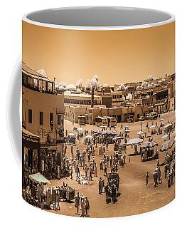 Jemaa El Fna Market In Marrakech At Noon Coffee Mug