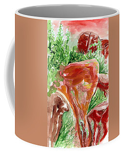 Coffee Mug featuring the painting Jemez Red Rocks by Ashley Kujan