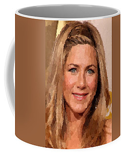 Jennifer Aniston Portrait Coffee Mug