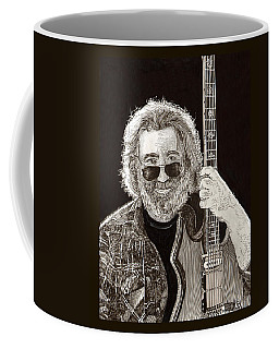 Jerry Garcia String Beard Guitar Coffee Mug