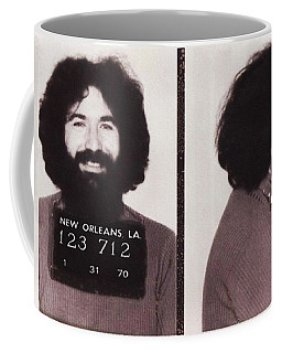 Jerry Garcia Mugshot Coffee Mug by Bill Cannon