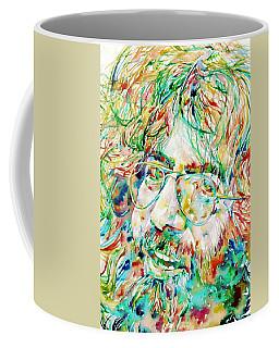Jerry Garcia Watercolor Portrait.1 Coffee Mug