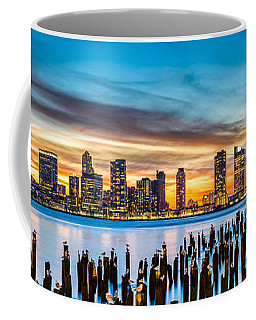 Jersey City Panorama At Sunset Coffee Mug by Mihai Andritoiu