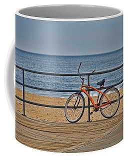Coffee Mug featuring the photograph Jersey Shore Bicycle by Beth Sawickie