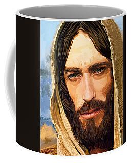 Jesus Of Nazareth Portrait Coffee Mug by Dave Luebbert