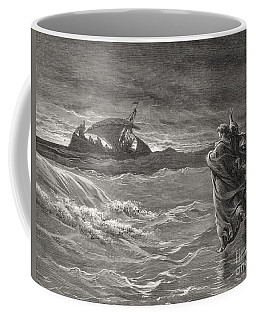 Jesus Walking On The Sea John 6 19 21 Coffee Mug