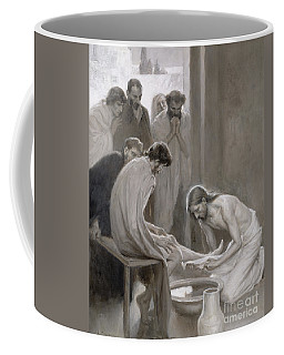 Jesus Washing The Feet Of His Disciples Coffee Mug