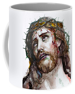Coffee Mug featuring the painting The Suffering God by Laur Iduc