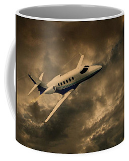 Jet Through The Clouds Coffee Mug
