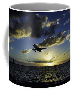jetBlue landing at St. Maarten Coffee Mug by David Gleeson