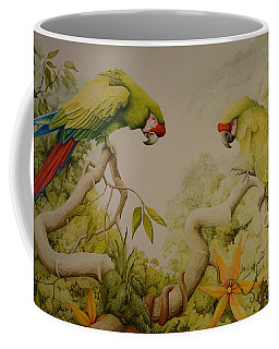 Jewels Of The Rain Forest  Military Macaws Coffee Mug