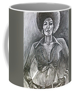 Coffee Mug featuring the drawing Jezebel by Gabrielle Wilson-Sealy