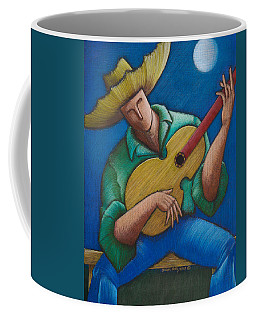 Coffee Mug featuring the painting Jibaro Bajo La Luna by Oscar Ortiz