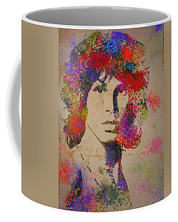 Jim Morisson Watercolor Painting Coffee Mug