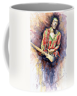 Rock Guitarist Art Jimi Hendrix Coffee Mugs