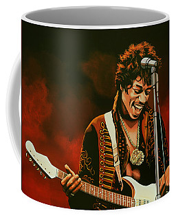 Jimi Hendrix Painting Coffee Mug by Paul Meijering