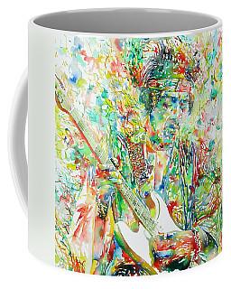 Jimi Hendrix Playing The Guitar Portrait.1 Coffee Mug