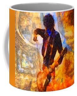 Jimmy Page Playing Guitar With Bow Coffee Mug