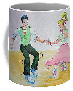 Jive Dancing Cartoon Coffee Mug