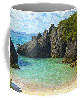 Coffee Mug featuring the photograph Jobson Cove Beach by Verena Matthew