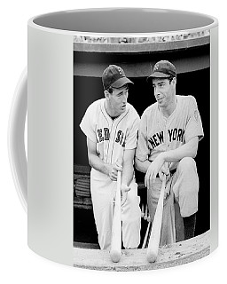 Joe Dimaggio And Ted Williams Coffee Mug