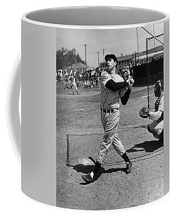 Joe Dimaggio Hits A Belter Coffee Mug