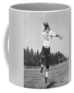 Joe Francis Throwing Football Coffee Mug