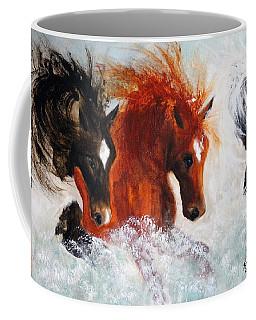 Coffee Mug featuring the painting Joe Tj Apache by Barbie Batson