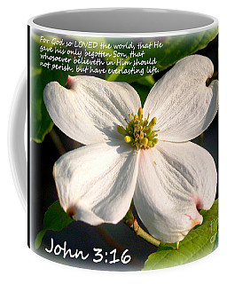 John 3-16/dogwood Legend Coffee Mug