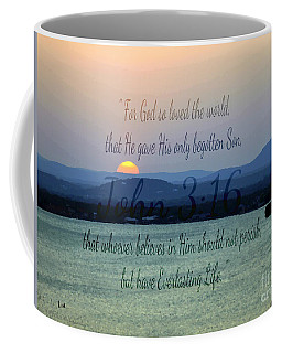 John 3 16 Lake Sunset Coffee Mug