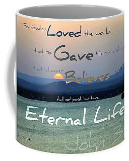 John 3 16 Coffee Mug by Sharon Soberon