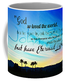 John 3 16 With Palm Trees  Coffee Mug