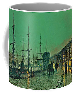 John Atkinson Grimshaw Shipping On The Clyde 1881 Coffee Mug