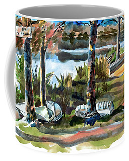 Coffee Mug featuring the painting John Boats And Row Boats by Kip DeVore