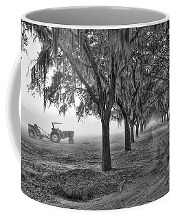 John Deer Tractor And The Avenue Of Oaks Coffee Mug