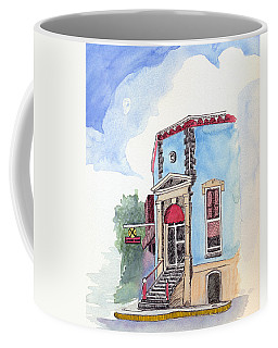 Coffee Mug featuring the painting John Dillinger Was Here by Katherine Miller