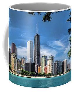 John Hancock Chicago Skyline Panorama Coffee Mug