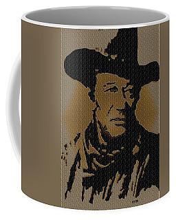 John Wayne Lives Coffee Mug by Robert Margetts