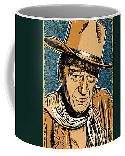 John Wayne Pop Art Coffee Mug by Jim Zahniser