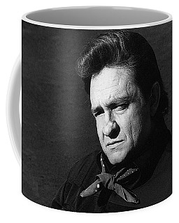 Coffee Mug featuring the photograph Johnny Cash Close-up The Man Comes Around Music Homage Old Tucson Az  by David Lee Guss