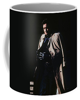 Coffee Mug featuring the photograph Johnny Cash Trench Coat Old Tucson Arizona 1971 by David Lee Guss