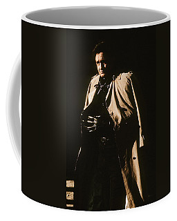 Coffee Mug featuring the photograph Johnny Cash Trench Coat Variation  Old Tucson Arizona 1971 by David Lee Guss