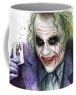 Joker Watercolor Portrait Coffee Mug