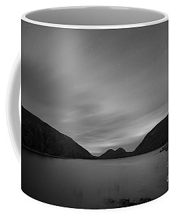 Jordan Pond Blue Hour Bw Coffee Mug