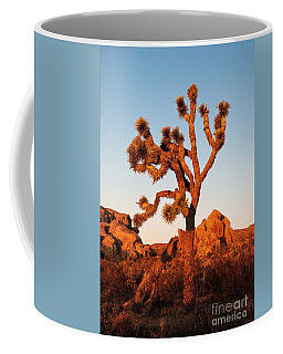 Coffee Mug featuring the photograph Joshua Tree At Sunset by Mae Wertz
