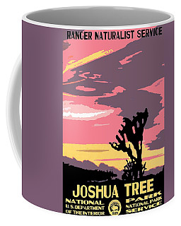 Joshua Tree National Park Vintage Poster Coffee Mug by Eric Glaser